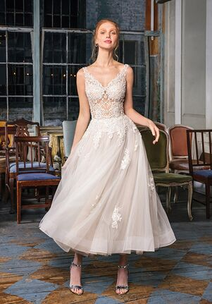 fdc1e5b44a8c Tea Length Wedding Dresses | The Knot