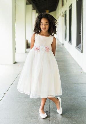 Silk flower girl dresses kids dream mightylinksfo