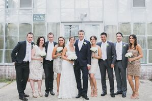 Classy Wedding Party in Neutral Shades