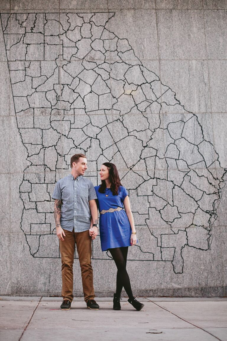 Meghan and Thomas engagement photo Atlanta GA