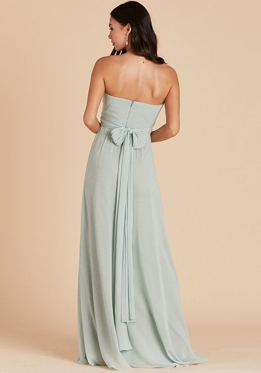 Birdy Grey Grace Convertible Dress in Sage Strapless Bridesmaid Dress