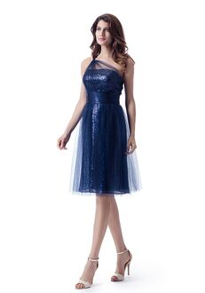 Venus Bridesmaids BM2258 One Shoulder Bridesmaid Dress