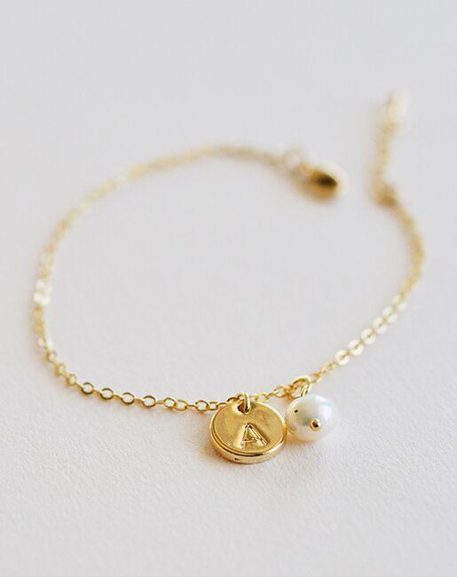 Dareth Colburn Engraved Initial Bracelet (JB-4860) Wedding Bracelets photo