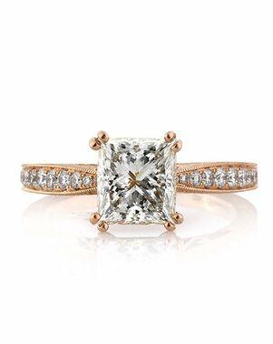 Mark Broumand Unique Princess Cut Engagement Ring