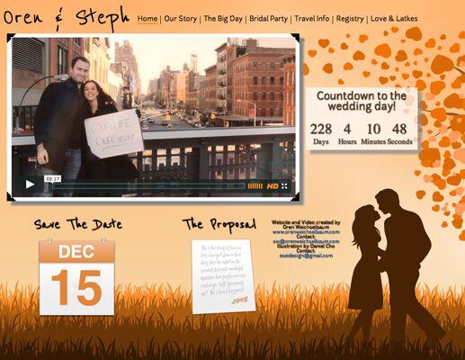 Steph And Oren S Wedding Website