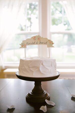 One Tier Sweetheart Wedding Cake