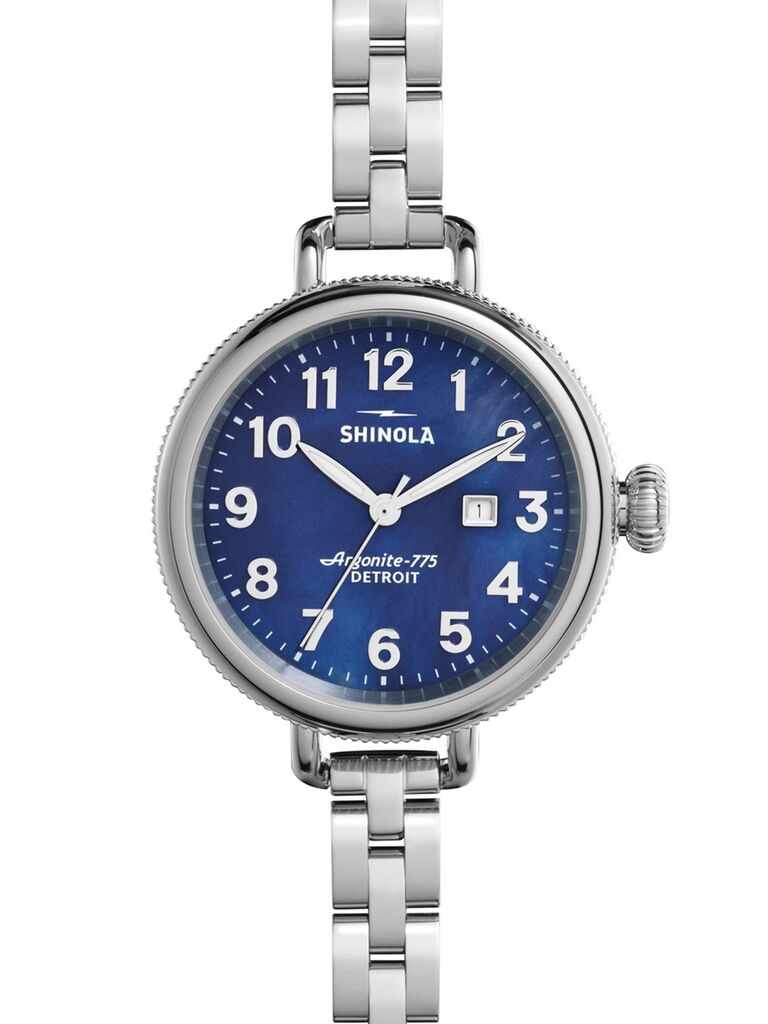 Silver anniversary gift watch for her