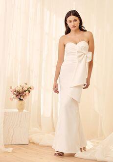 Lulus Enchanting Evening White Strapless Maxi Dress A-Line Wedding Dress