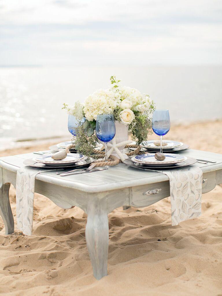 beach bridal shower ideas centerpieces