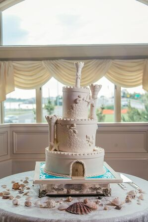Carlo's Bakery Sandcastle-Inspired Wedding Cake