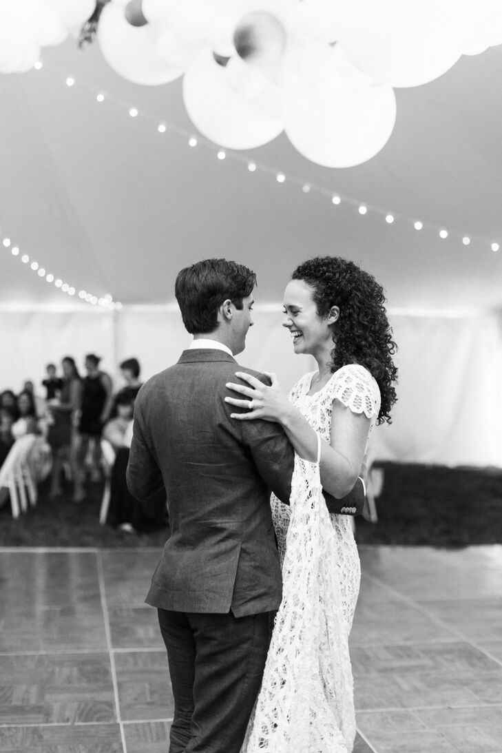"""Christine and Addison shared their first dance to """"Stay Forever"""" by Ween, a sentimental song for the couple and their college friends. """"Addison's dance with his mom really stole the show; they choreographed a whole dance in secret—I had no idea,"""" Christine says. """"My maid of honor also arranged a special all-girls dance to 'Wannabe' by the Spice Girls, and it was the ultimate way to kick off the night."""""""