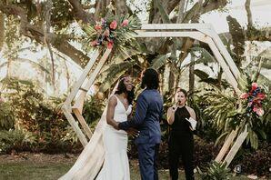 Wedding Ceremony at the Miami Beach Botanical Garden in Miami Beach, Florida