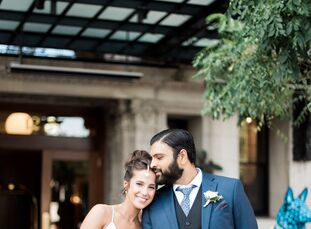 Rachel Kravitt (33 and an occupational therapist) and Nithin Kalvakota (38 and a project manager) booked the popular venue, Greenhouse Loft, for its a