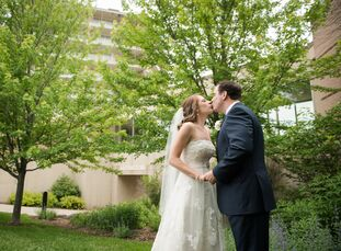 Kim Peters (29 and a sales manager) and Jim Funk (31 and a senior product manager) held their wedding at Venuti's Ristorante & Banquet Hall in Addison