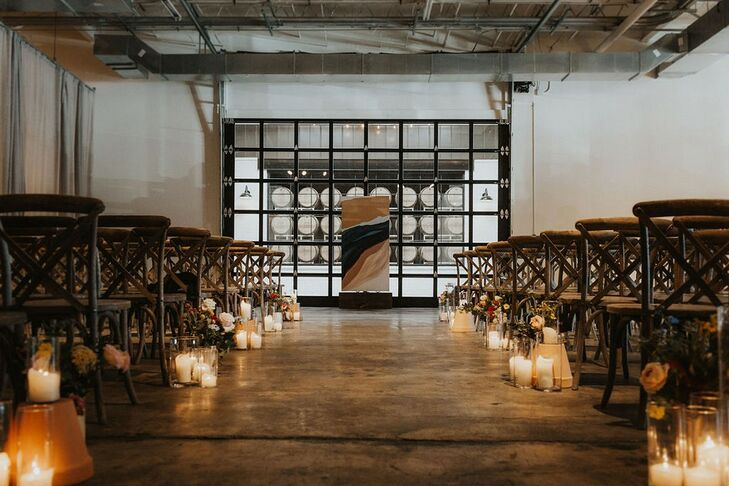 Alternative Ceremony Site with Candles at The Stave Room in Atlanta, Georgia