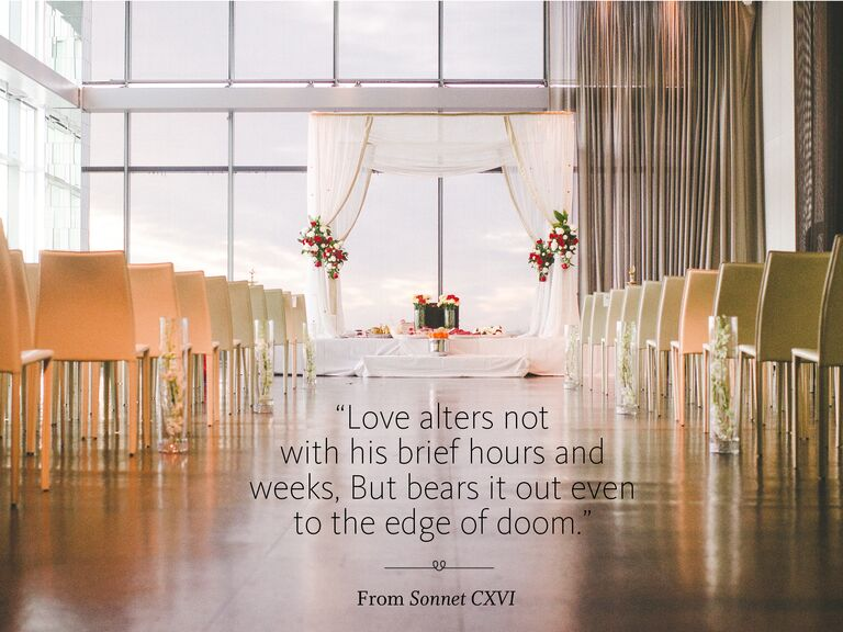 Sonnet CXVI wedding ceremony reading