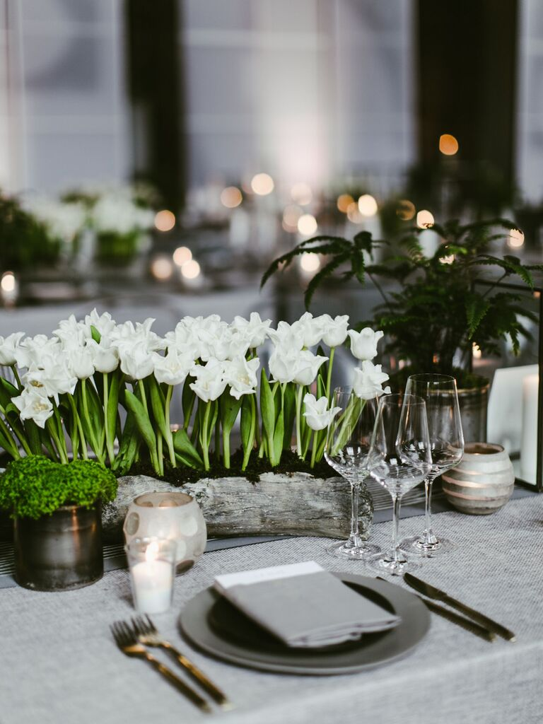 Wedding Centerpieces Box of Tulips
