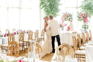 Whimsical, Glamorous Couple at The Resort At Pelican Hill in Newport Coast, CA