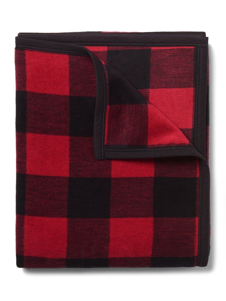 Checkered throw blanket cute Valentine's Day gift for her