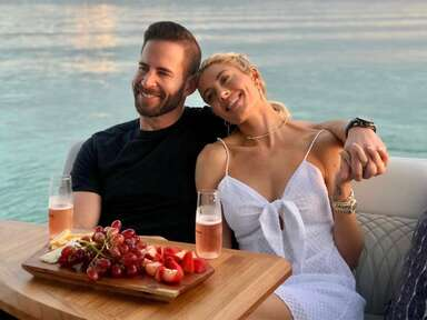 Selling Sunset's Heather Rae Young and Tarek El Moussa on a boat in Florida