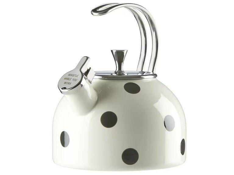 Kate Spade New York All in Good Taste 2.5-qt stainless steel deco dot tea kettle