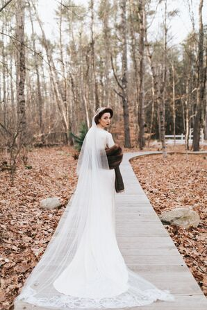 Custom Chapel-Length Wedding Veil