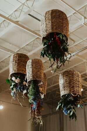 Eclectic Upside-down Hanging Plants  and Baskets