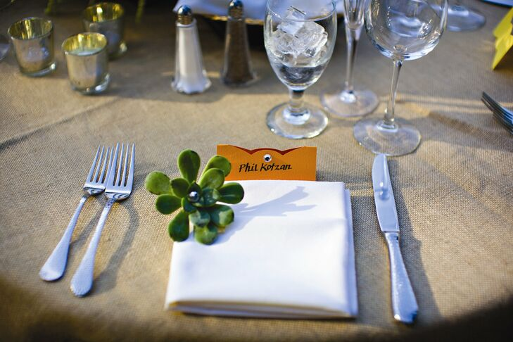 DIY Bow-Tie Place Cards