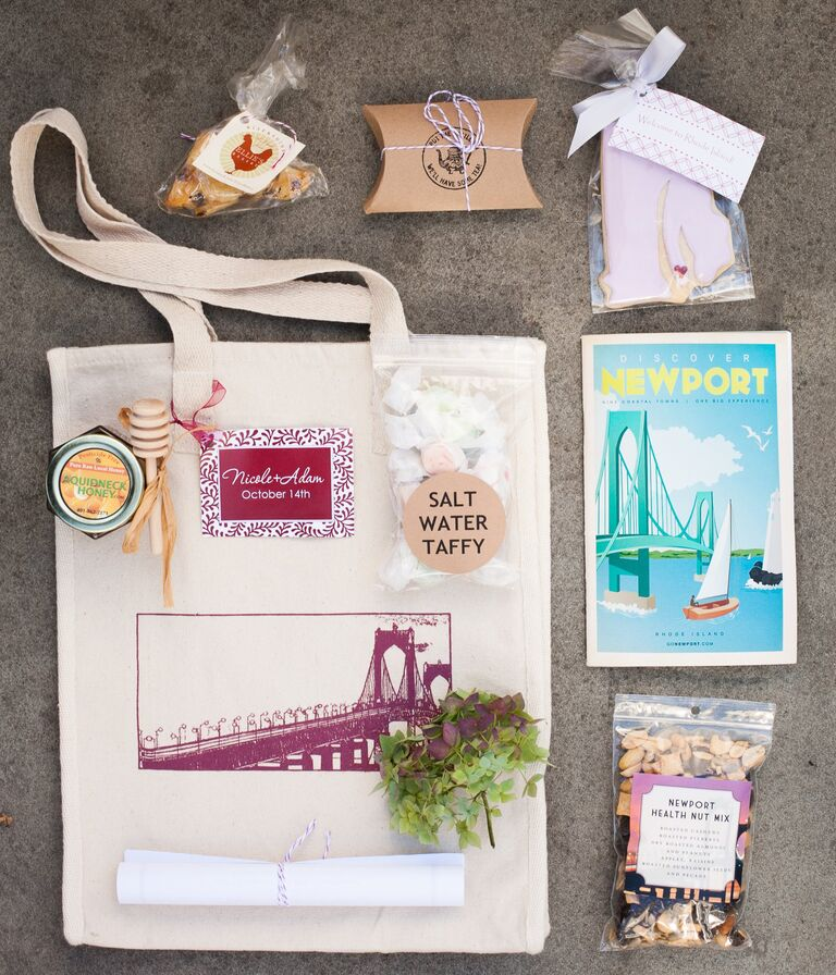 Newport, RI wedding welcome bag