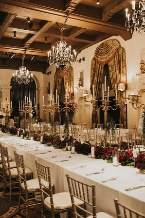 Glamorous Gilded Reception at The Mission Inn Hotel & Spa in Riverside, California