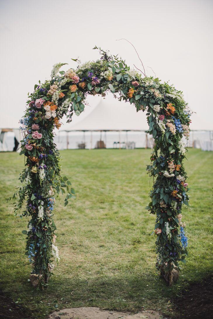 Lush Garden-Inspired Wedding Arch