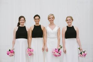 Black and White Bridesmaids Dresses at The Asbury Hotel