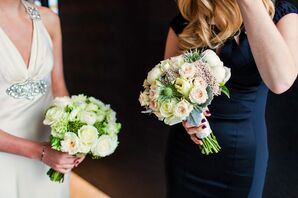 Bouquets with Roses, Peonies and Thistles