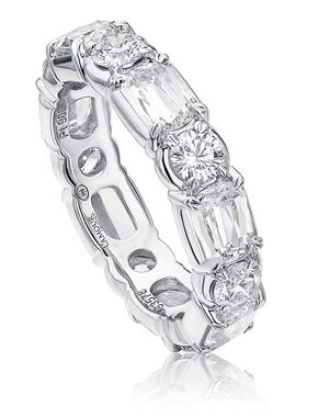 Christopher Designs L201-0-350 White Gold Wedding Ring