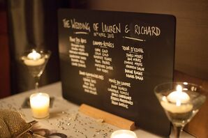 Chalkboard Seating Chart With Landmark Table Names