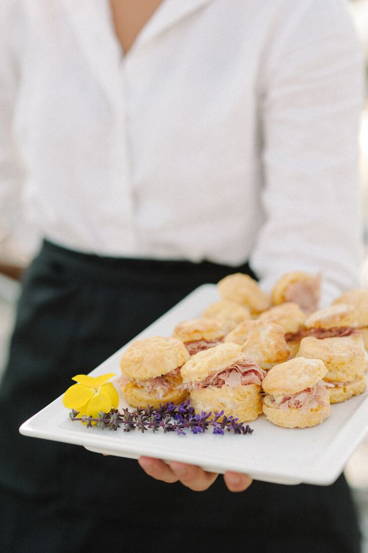 Catered Sweet Potato Ham Biscuits