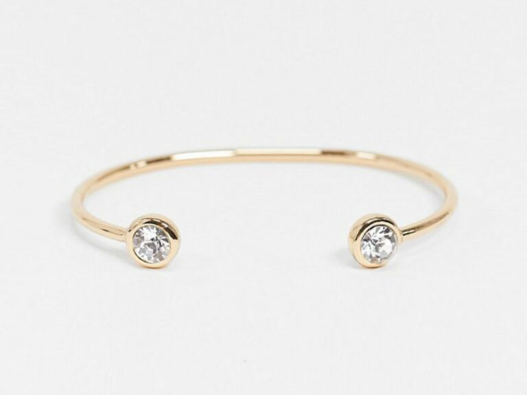 bangle with crystal ends