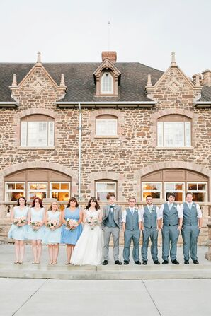 Light Blue and Gray Wedding Party