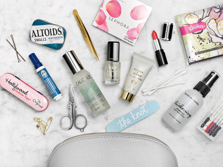 Bride S Emergency Kit For Wedding Day