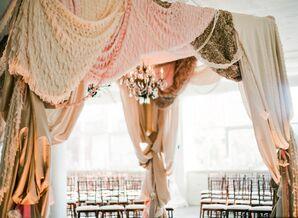 Romantic Draped Ceremony Canopy
