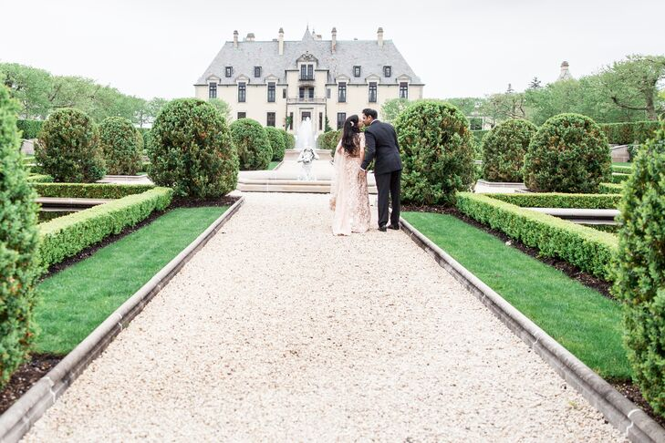A stunning castle set the scene for Rekha Mahale (35 and a pediatrician) and Mihir Patel's (33 and a corporate bond trader) storybook spring celebrati