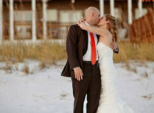 The Bride Devon Bussey, 33, owner of her own graphic design company The Groom Tom Wheaton, 30, a territory marketing manager for Progressive The Date