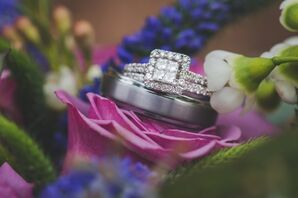 Halo Square-Cut Engagement Rings
