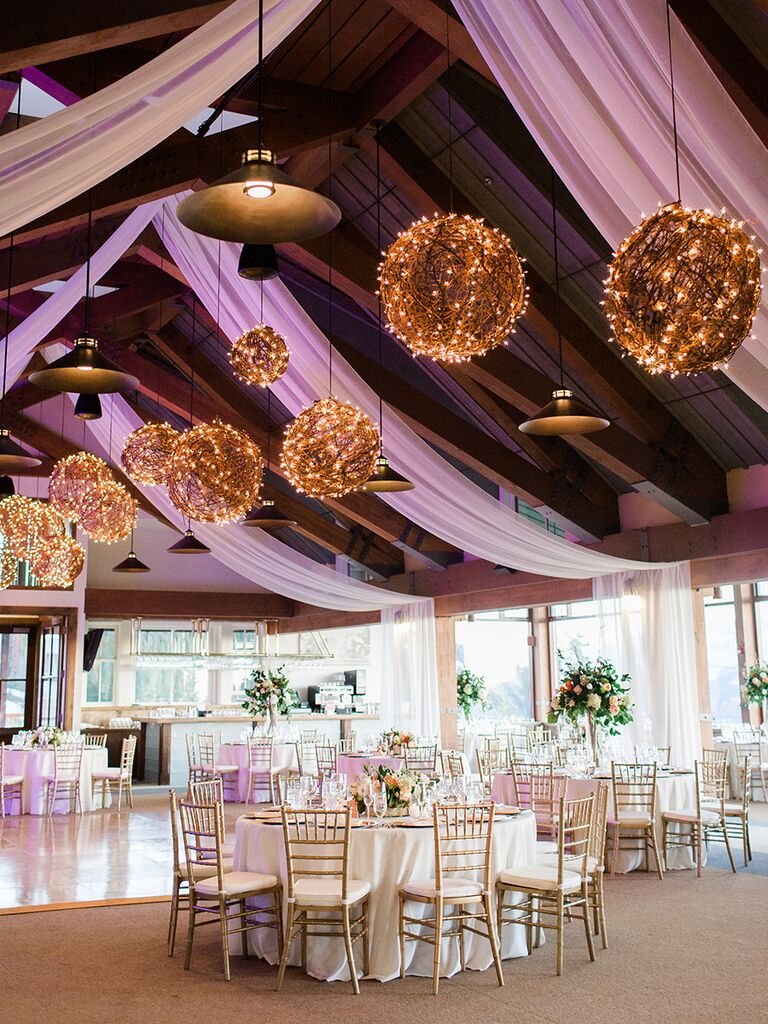 Creative string light ideas for a romantic wedding reception & 7 Ways to Get Creative With String Lights