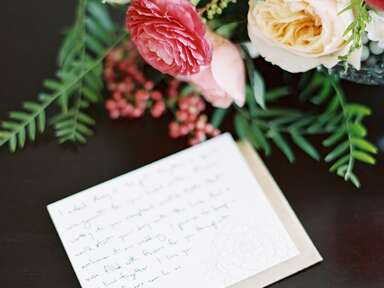Handwritten thank-you note