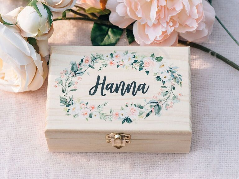 Flower girl personalized gift box
