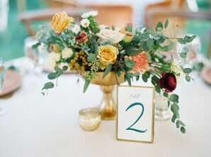 Elegant Centerpiece at Marathon, Texas Wedding
