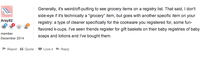 wedding registry etiquette are everyday staples limits
