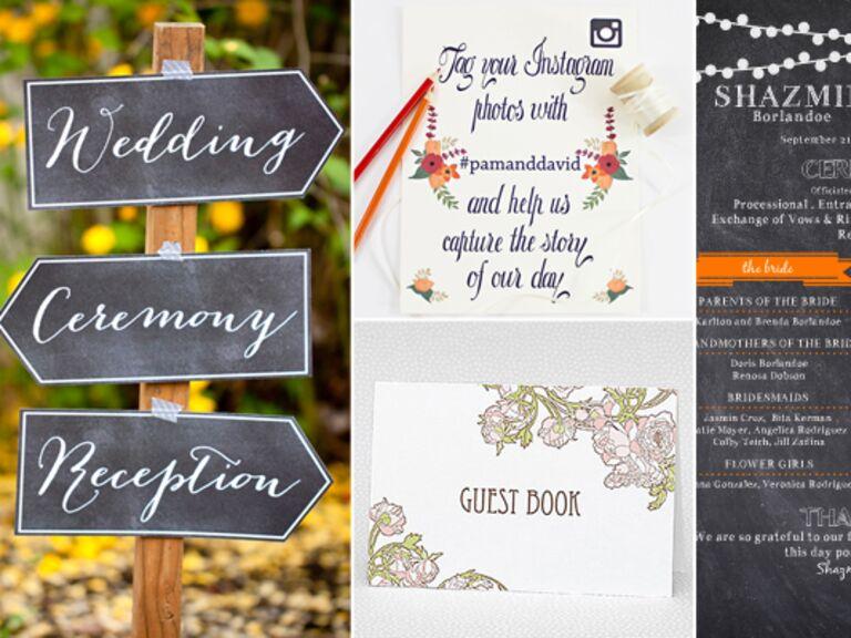 DIY Wedding Signs: Etsy/The Munch / TheKnot.com