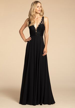 Hayley Paige Occasions 5919 V-Neck Bridesmaid Dress